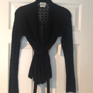 NWT Black wrap sweater from Antrho